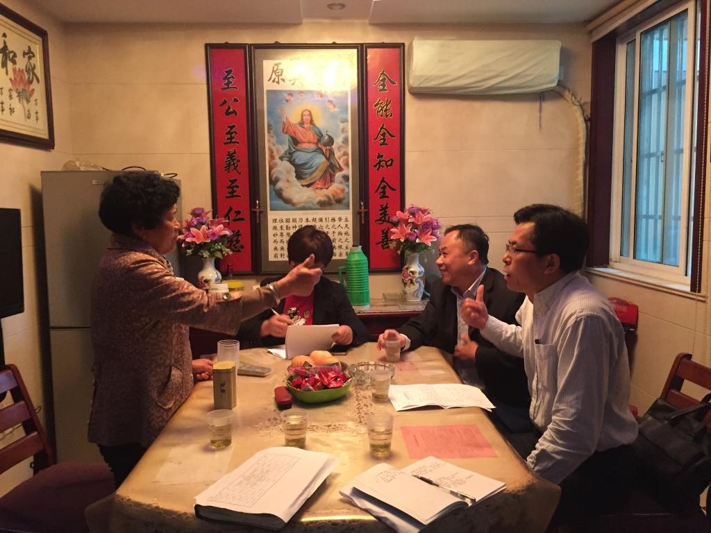 吕勤彬率第二小组走访惠山区钱桥街道洋溪社区